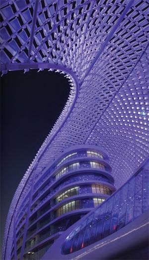 Yas Hotel, on Yas Island, Abu Dhabi, UAE  WOW!