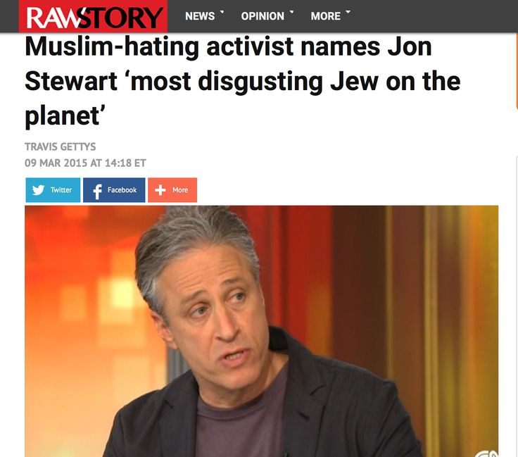 Muslim-hating activist names Jon Stewart 'most disgusting jew on the planet'