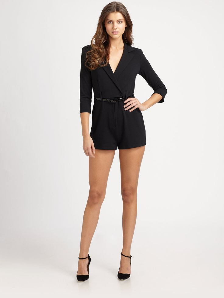 Loving this Catherine Malandrino short jumpsuit!