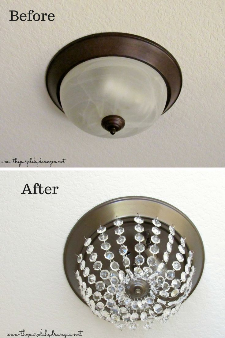"Giving this ""boob light"" a new look was just part of what I accomplished with only $100 as part of my master bathroom makeover."