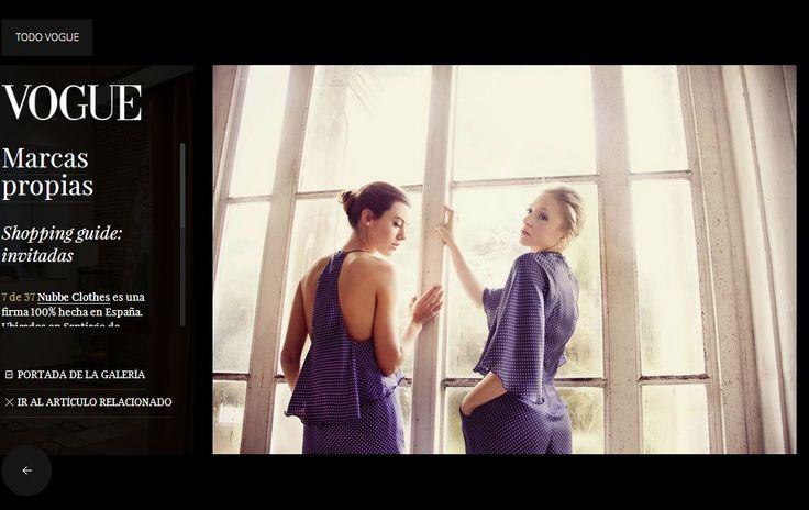 Vogue España incluye a Nubbe Clothes en su guía de shopping para invitadas, incidiendo en el sello Made in Spain y en nuestra atención por los detalles.