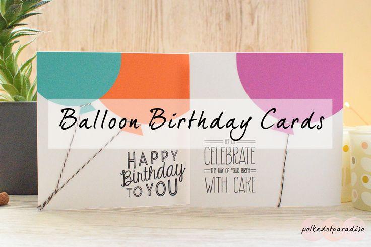 Balloon Birthday Cards | Simple Card Ideas | Kids Birthday Card | Greetings Card Idea | Birthday Card Inspiration
