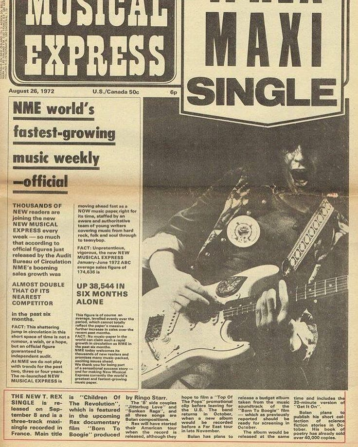 August 26th 1972 New Single Announcement