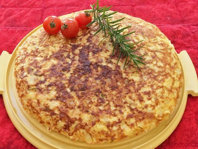 Como desayuno o entremés, una rica opción: Tortilla de Coliflor