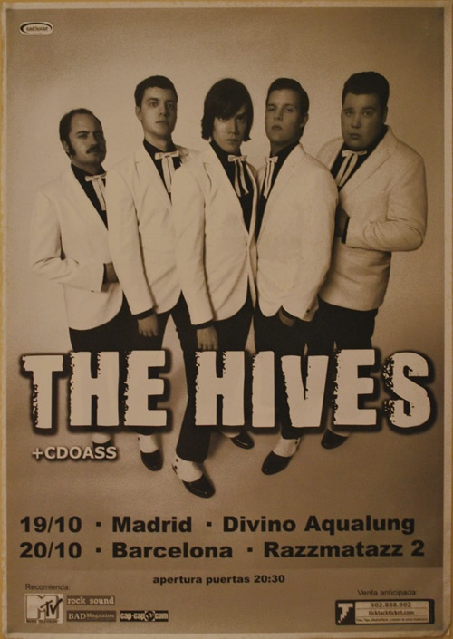THE HIVES, Tour 2010 Barcelona y Madrid