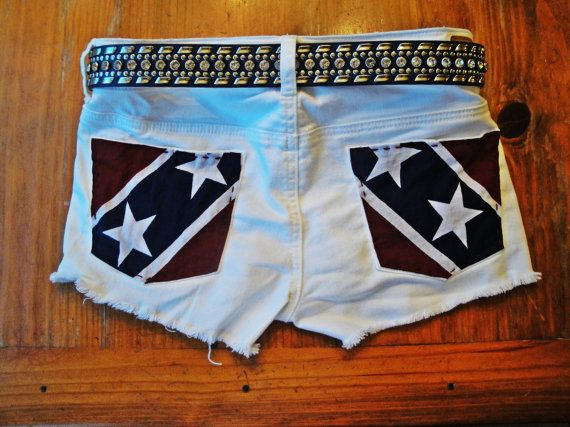 Rebel Flag Upcycled American Eagle Patriotic by CowgirlCouture76, $30.00