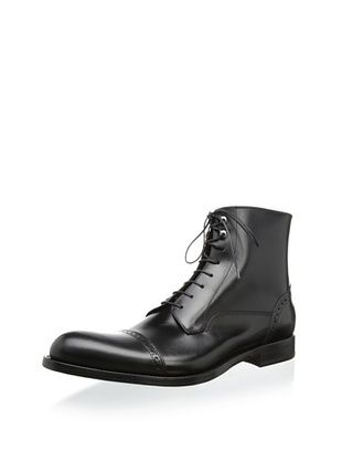 66% OFF Antonio Maurizi Men's Perforated Detail Captoe Lace Boot (Black)