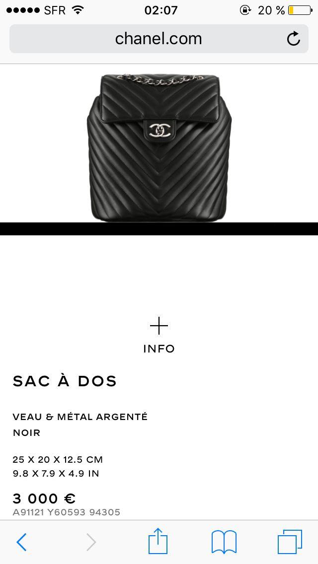 • Chanel - Sac à dos - Précollection Printemps / Été 2017 - 3,000.00€ •