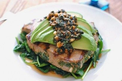 Grilled Citrus Tuna Steak with Avocado and Spinach | Tasty Kitchen: A Happy Recipe Community!
