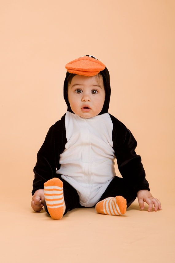 halloween handmade penguin baby costume by thumbelinaworkshop - Infant Penguin Halloween Costume
