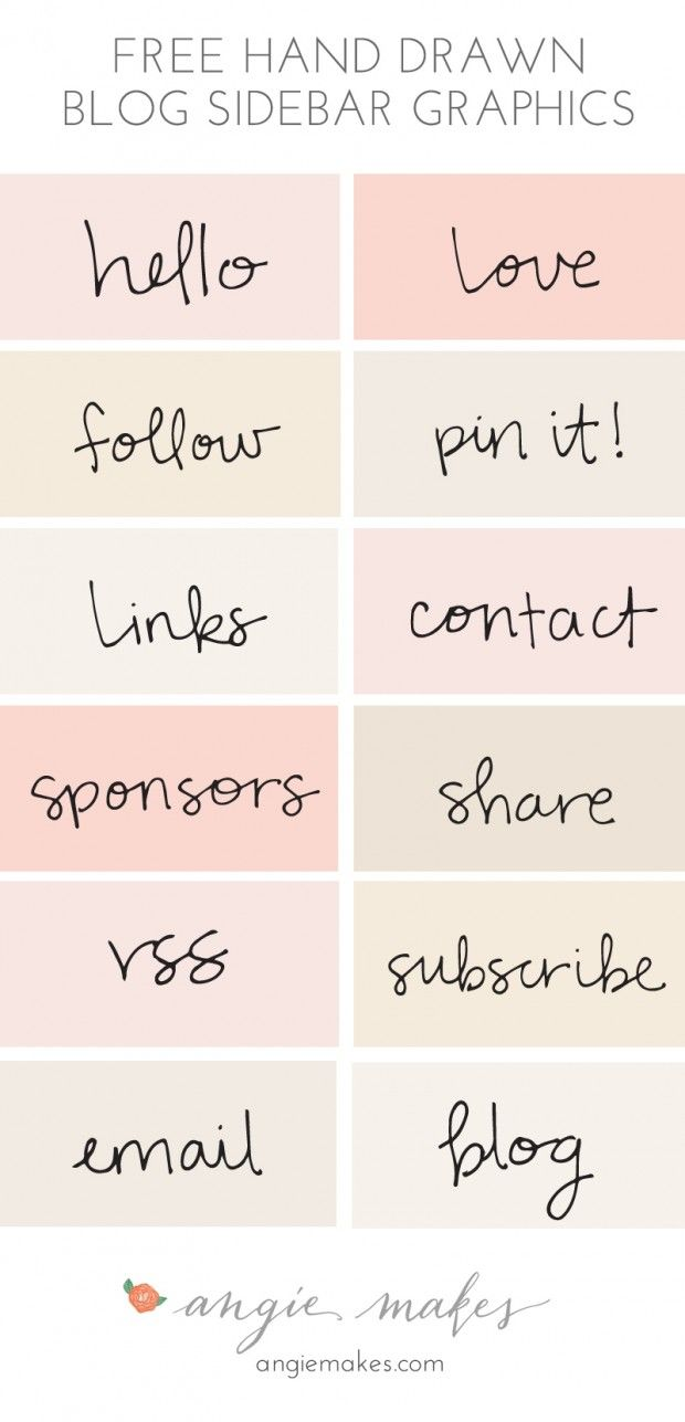 free blog sidebar graphics & SO MUCH MORE from angiemakes.com #freebies page!