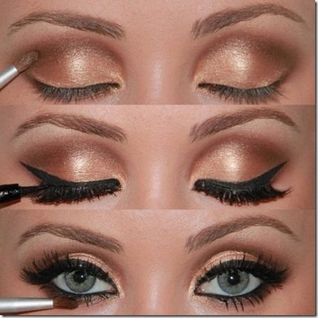 golden eyes makeup