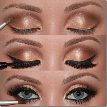 Sexy you Eyes~ golden eyes makeup