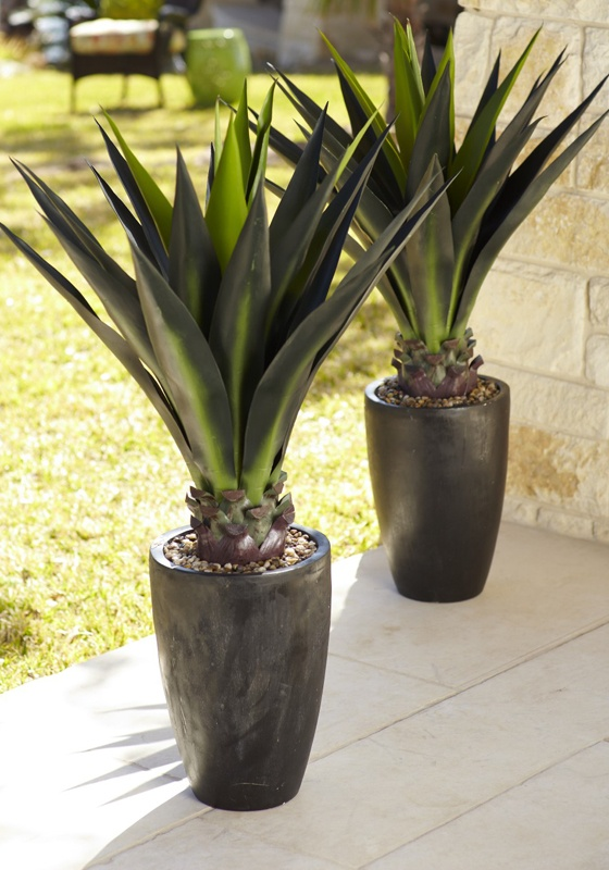 44 Faux Agave Plant In Pot The O 39 Jays Agaves And Agave Plant