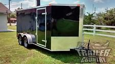 NEW 2017 7 x 14 7x14 V-Nosed Enclosed Cargo Motorcycle Trailer Ramp & Side Doorheavy equipment trailers apply now www.bncfin.com/apply