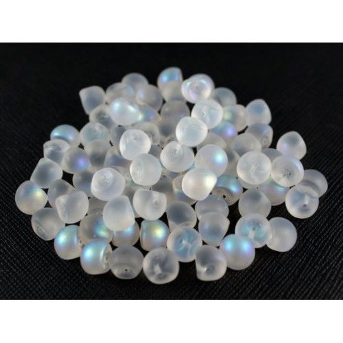 http://www.scarabeads.com/Glass-BEADS/Mushroom-Beads/25pcs-Mushroom-beads-9x8mm-White-AB-Matte