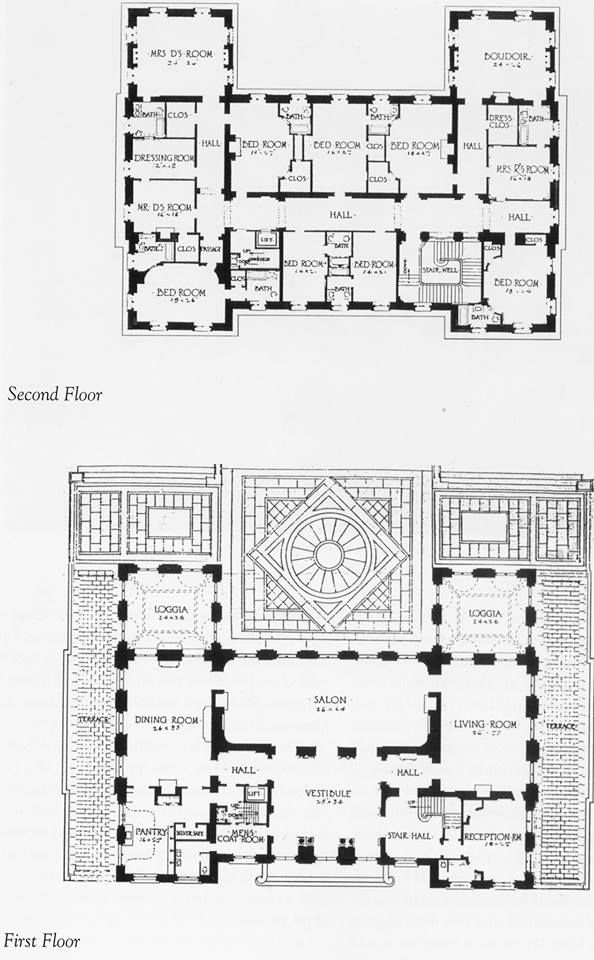 Miramar newport gilded era mansion floor plans for Estate blueprints