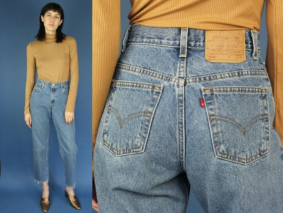 Size 26 Levis 550 High Waisted Vintage Jeans Medium Wash Raw Hemline Denim Mom Jean Levis Denim 26 27 small mom jeans levis 550 Mom jean by DiveVintage from Passport Vintage. Find it now at http://ift.tt/2gNeOSe!