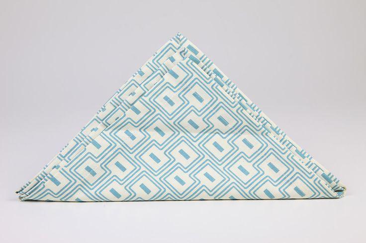 Square Maze Printed Napkin by Suraaj Linens Check more at http://www.suraaj.com/product/square-maze-printed-napkin/