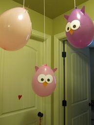 owl party decorations baby shower | Owl Party Balloons