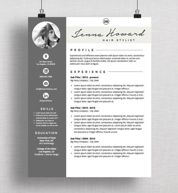 51 Best Resume Templates Images On Pinterest | Cover Letter