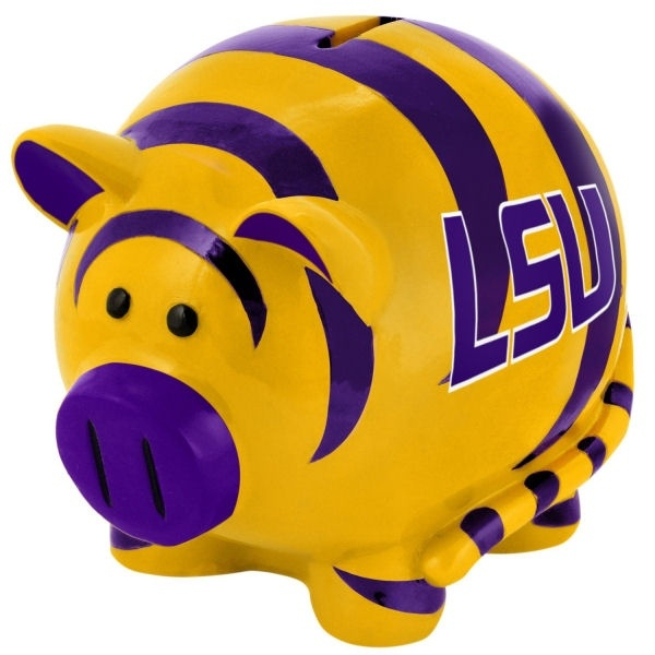 LSU Tigers Thematic Piggy Bank