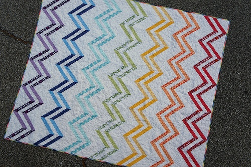 how to make a zig zag quilt