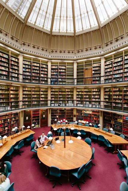 Round Reading Room at the Maughan Library, King's College, London.