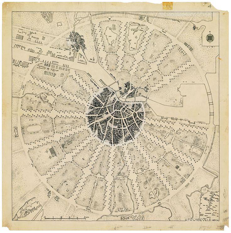 Wijdeveld, Chaos en Orde: plan voor radiale uitbreiding 1920-1927