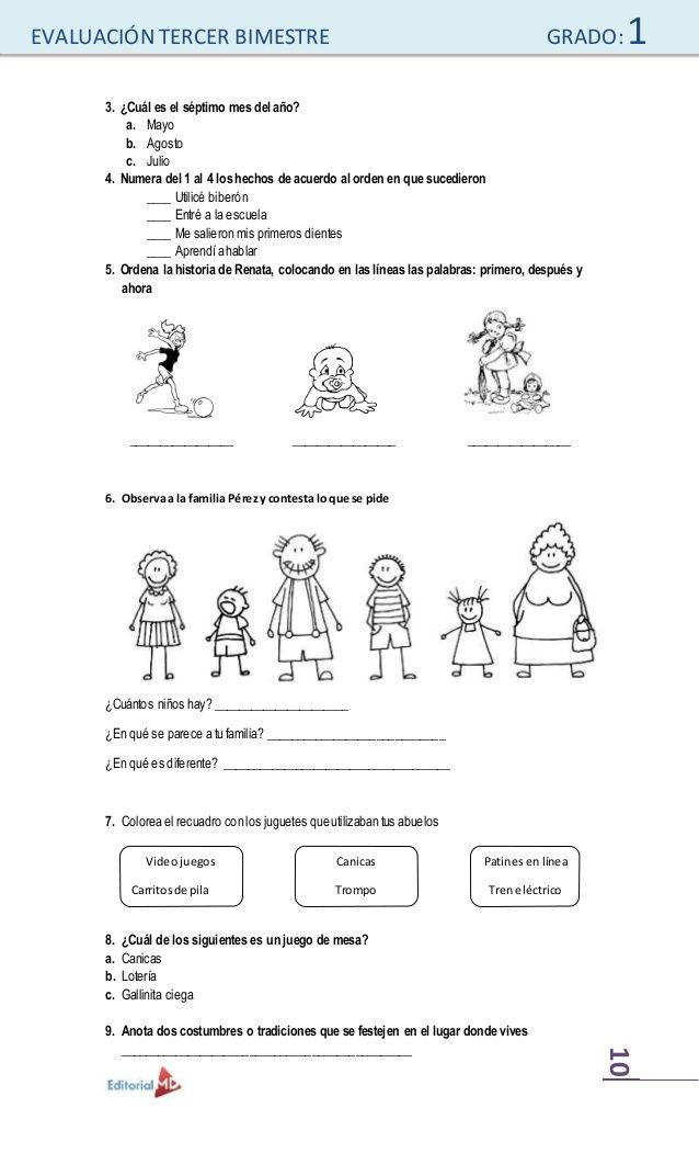 Examenes De Primaria Spanish English Math Equation Primer