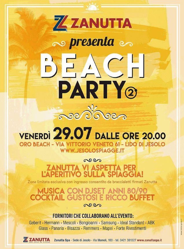 Non prendete impegni per venerdì prossimo: vi aspettiamo a #LidodiJesolo per il #BeachParty più fresco e gustoso che ci sia :) Dalle ore 20 allo stabilimento balneare Oro Beach tanta bella musica e buffet!  #zanutta #casadavivere #jesolo #party #eventi #estate #aperitivo
