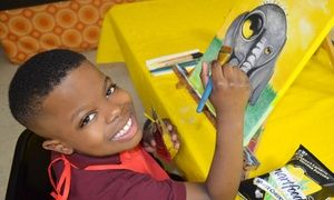 Groupon - Kids Painting Class for Two, Four, or Six at Seven Arts Center (Up to 63% Off) in Carriage Station Plaza. Groupon deal price: $20