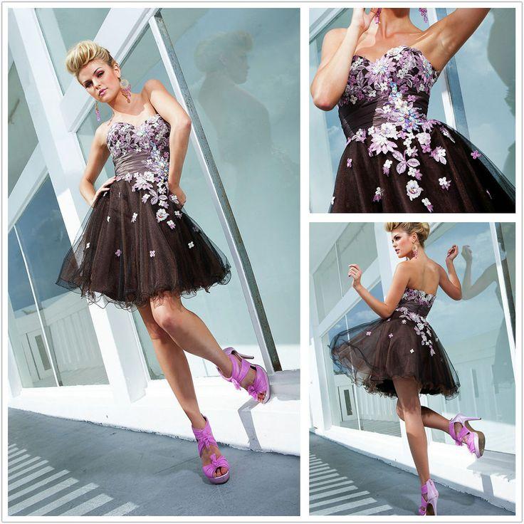 Купить товарJ и Y 2014 последние образцы милая линии аппликация off the плечи мини платье из органзы выпускное платье коктейльное платье в категории Коктейльные платьяна AliExpress.                     Добро пожаловать в наш магазин                                              Продукт фото
