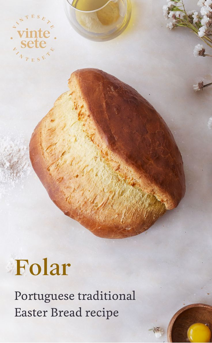 Learn how to make the delicious #Easter #Folar, characterized by its oval shape, light olive oil flavor and crunchy crust with egg wash.