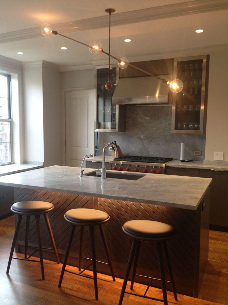 grey kitchen apparatus studio light fixture