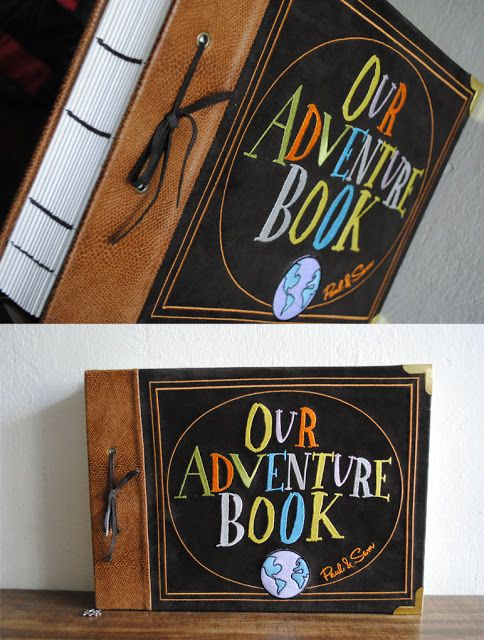 An Adventure Book like the one from Up. This would be really neat to have for each of your kids. It could be their baby book with a modern twist. :)