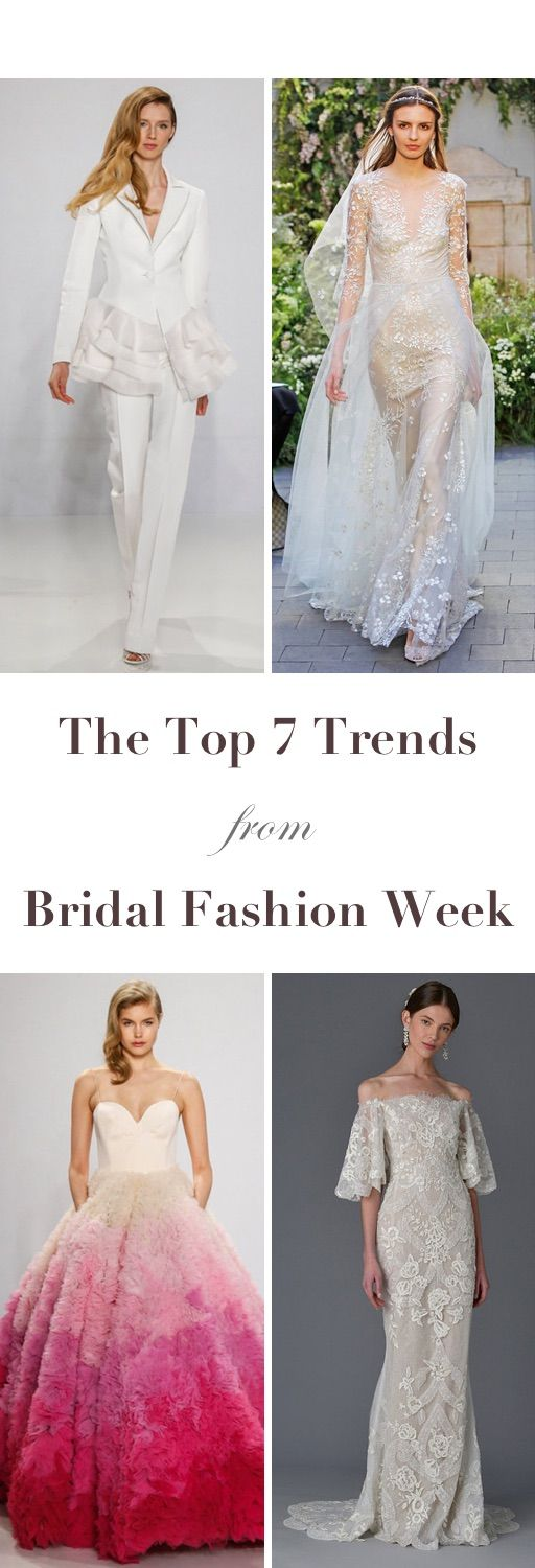 top 7 trends from bridal fashion week