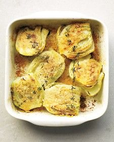 Baked Fennel with Parmesan and Thyme:  Serve this side dish with baked eggs or roasted chicken, pork, and fish