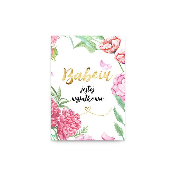 Kartka - Dzień Babci - lemonducky - Kartki z życzeniami