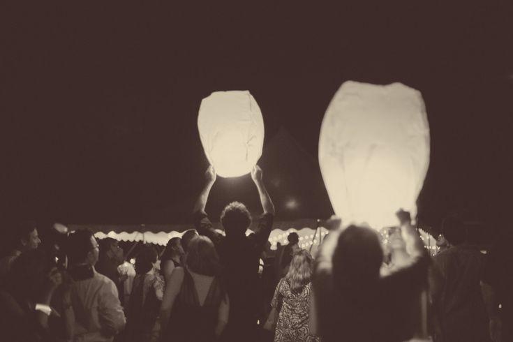 Flying Sky Lanterns - pack of 10 - Chinese wishing lanterns for weddings. $35.00, via Etsy.
