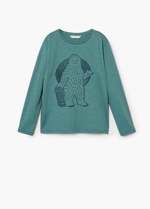 2de6fbc43ca Camiseta estampada algodón - Niño en 2019
