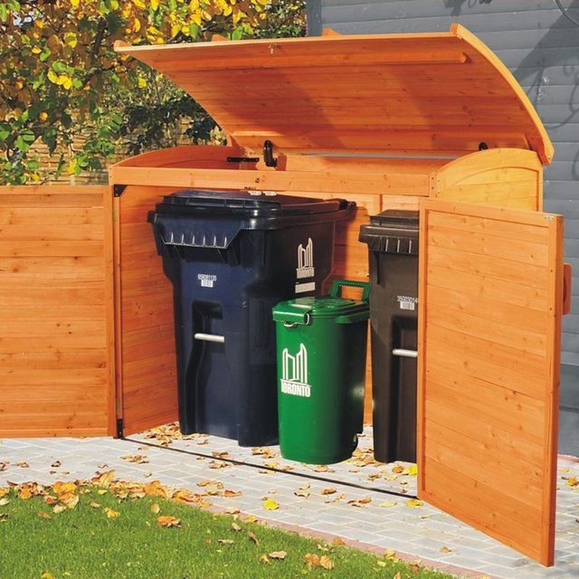 Horizontal Refuse Storage Shed  Another Idea For Hiding The Trash Cans (aka  Rubbish Bins) And Recycling Bin