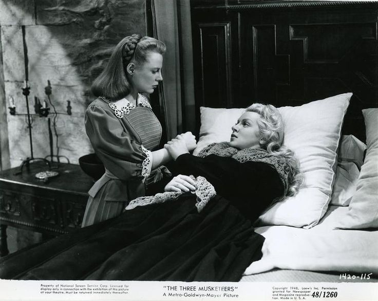 "Lana Turner and June Allyson in ""The Three Musketeers"" (1948)."