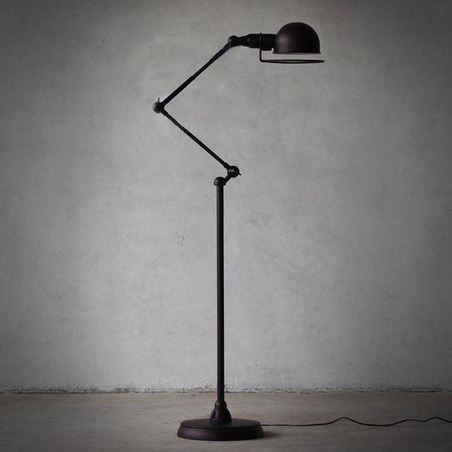 Europese stijl minimalistische woonkamer slaapkamer creatieve verlichting retro amerikaanse zwarte mechanische arm vloerlamp