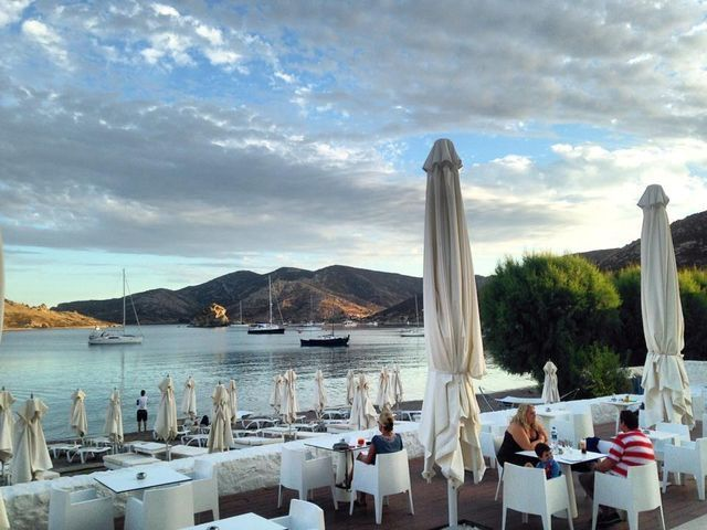 The beautiful view from Theion Bar , Patmos Aktis Suites & Spa,🇬🇷