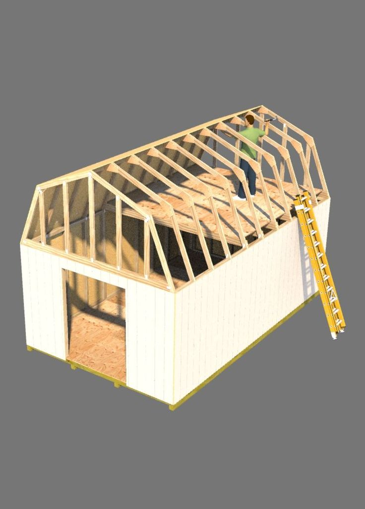 Building a barn style roof for your shed will be easier with this online shed roof building guide.