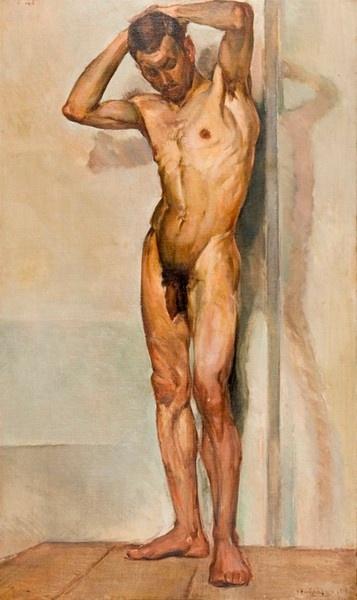 Μόραλης Γιάννης (1916-2009)    Ανδρικό γυμνό  1931 ελαιογραφία