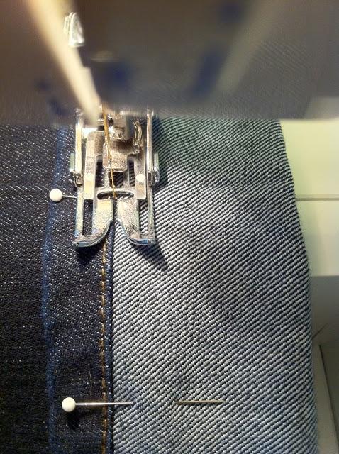 faire un ourlet de jean facile et en gardant l 'ancien