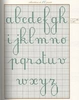 cross stitch lowercase cursive