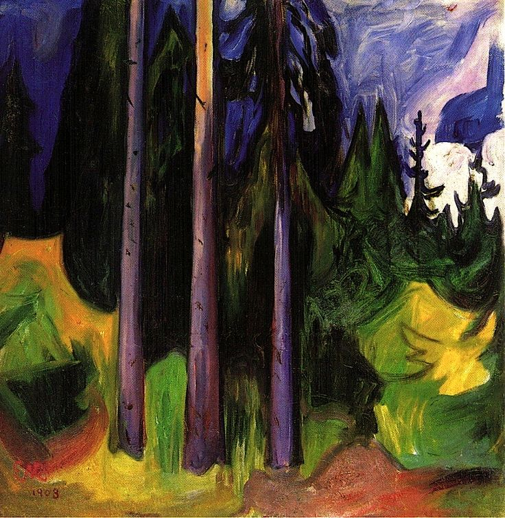 Edvard Munch - Forest - Found on bofransson.tumblr.com